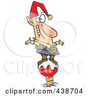 Royalty Free RF Clip Art Illustration Of A Cartoon Christmas Elf On The North Pole