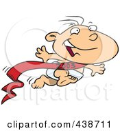 Royalty Free RF Clip Art Illustration Of A Cartoon New Years Baby Running