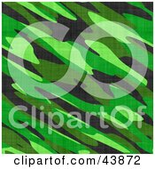 Clipart Illustration Of A Background Of Jungle Green Military Camo