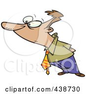 Royalty Free RF Clip Art Illustration Of A Cartoon Businessman Observing