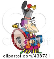 Royalty Free RF Clip Art Illustration Of A Cartoon One Man Band
