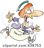 Royalty Free RF Clip Art Illustration Of A Cartoon Crazy Nurse by toonaday