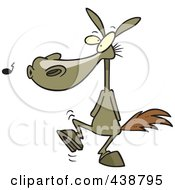 Royalty Free RF Clip Art Illustration Of A Cartoon One Trick Pony by toonaday