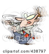 Royalty Free RF Clip Art Illustration Of A Cartoon Businessman Doing A Happy Dance