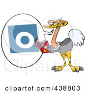 Royalty Free RF Clip Art Illustration Of A Cartoon Ostrich Reading The ABCs by toonaday