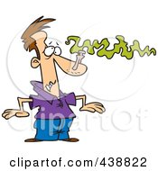 Royalty Free RF Clip Art Illustration Of A Cartoon Man With A Pin On His Nose To Avoid A Smell by toonaday