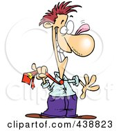 Royalty Free RF Clip Art Illustration Of A Cartoon Businessman Acting Like A Fool by toonaday