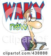 Royalty Free RF Clip Art Illustration Of A Cartoon Waky News Anchor