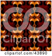 Clipart Illustration Of A Retro Background Of Red Brown And Orange Designs by Arena Creative