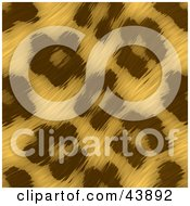 Clipart Illustration Of A Background Of Wavy Leopard Print Fur