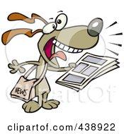 Royalty Free RF Clip Art Illustration Of A Cartoon News Dog