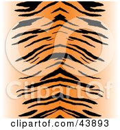 Clipart Illustration Of A Black And Orange Centered Tiger Stripe Background