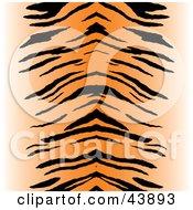 Clipart Illustration Of A Black And Orange Centered Tiger Stripe Background