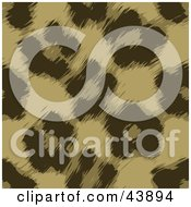Clipart Illustration Of A Brown Leopard Fur Print Background