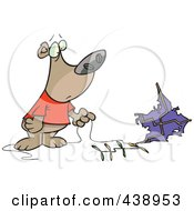 Royalty Free RF Clip Art Illustration Of A Cartoon Bear With A Crashed Kite