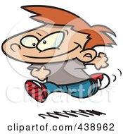 Royalty Free RF Clip Art Illustration Of A Cartoon Boy Running