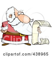 Royalty Free RF Clip Art Illustration Of A Cartoon Santa Reading His Naughty List