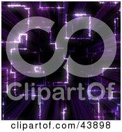 Clipart Illustration Of A Purple Vortex Background Of Light Shining Through The Dark