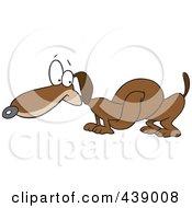Cartoon Knotted Wiener Dog