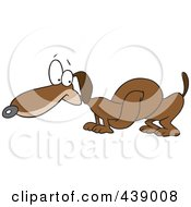 Royalty Free RF Clip Art Illustration Of A Cartoon Knotted Wiener Dog