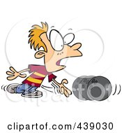Royalty Free RF Clip Art Illustration Of A Cartoon Boy Bowling by toonaday