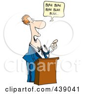 Royalty Free RF Clip Art Illustration Of A Cartoon Boring Speaker by Ron Leishman