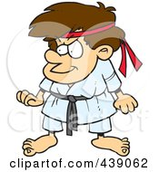 Royalty Free RF Clip Art Illustration Of A Cartoon Karate Boy by toonaday
