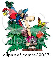 Royalty Free RF Clip Art Illustration Of A Cartoon Jungle Tourist by toonaday