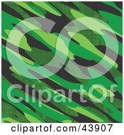 Clipart Illustration Of A Background Of Green Military Camo by Arena Creative
