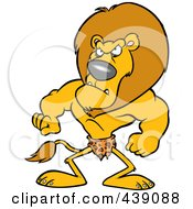 Royalty Free RF Clip Art Illustration Of A Cartoon Jungle King Lion