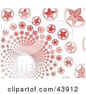 Clipart Illustration Of A Red Fractal Star Vortex On White by Arena Creative