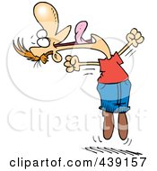 Royalty Free RF Clip Art Illustration Of A Cartoon Joyful Man Jumping by Ron Leishman