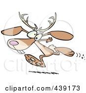 Royalty Free RF Clip Art Illustration Of A Cartoon Running Jackalope