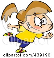 Royalty Free RF Clip Art Illustration Of A Cartoon Dancing Jazzercise Girl 2 by toonaday