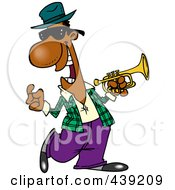 Royalty Free RF Clip Art Illustration Of A Cartoon Jazz Musician by toonaday
