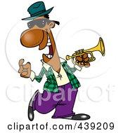 Royalty Free RF Clip Art Illustration Of A Cartoon Jazz Musician