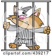 Royalty Free RF Clip Art Illustration Of A Cartoon Prisoner Cat by toonaday