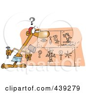 Royalty Free RF Clip Art Illustration Of A Cartoon Man Inscribing On A Wall