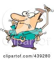 Cartoon Man Scratching Itches