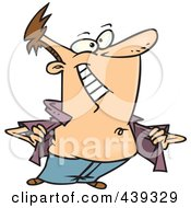 Royalty Free RF Clip Art Illustration Of A Cartoon Man Baring His Chest