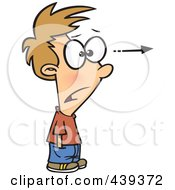 Royalty Free RF Clip Art Illustration Of A Cartoon Stunned Boy Focusing His Attention