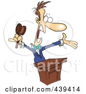Royalty Free RF Clip Art Illustration Of A Cartoon Loud Auctioneer by toonaday