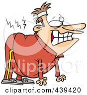 Cartoon Incapacitated Man With A Hurt Back