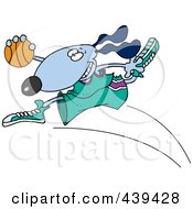 Royalty Free RF Clip Art Illustration Of A Cartoon Basketball Dog by toonaday