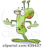 Royalty Free RF Clip Art Illustration Of A Cartoon Strange Alien by toonaday