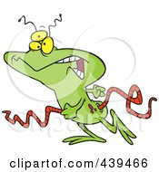 Royalty Free RF Clip Art Illustration Of A Cartoon Walking Alien by toonaday