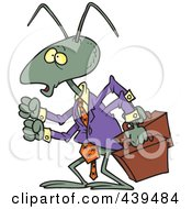 Royalty Free RF Clip Art Illustration Of A Cartoon Business Ant by toonaday