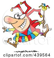 Royalty Free RF Clip Art Illustration Of A Cartoon Happy Fool