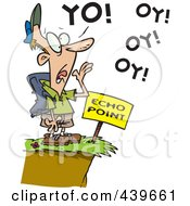 Royalty Free RF Clip Art Illustration Of A Cartoon Man Shouting At Echo Point by toonaday
