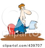 Royalty Free RF Clip Art Illustration Of A Cartoon Businessman Reading A Memo